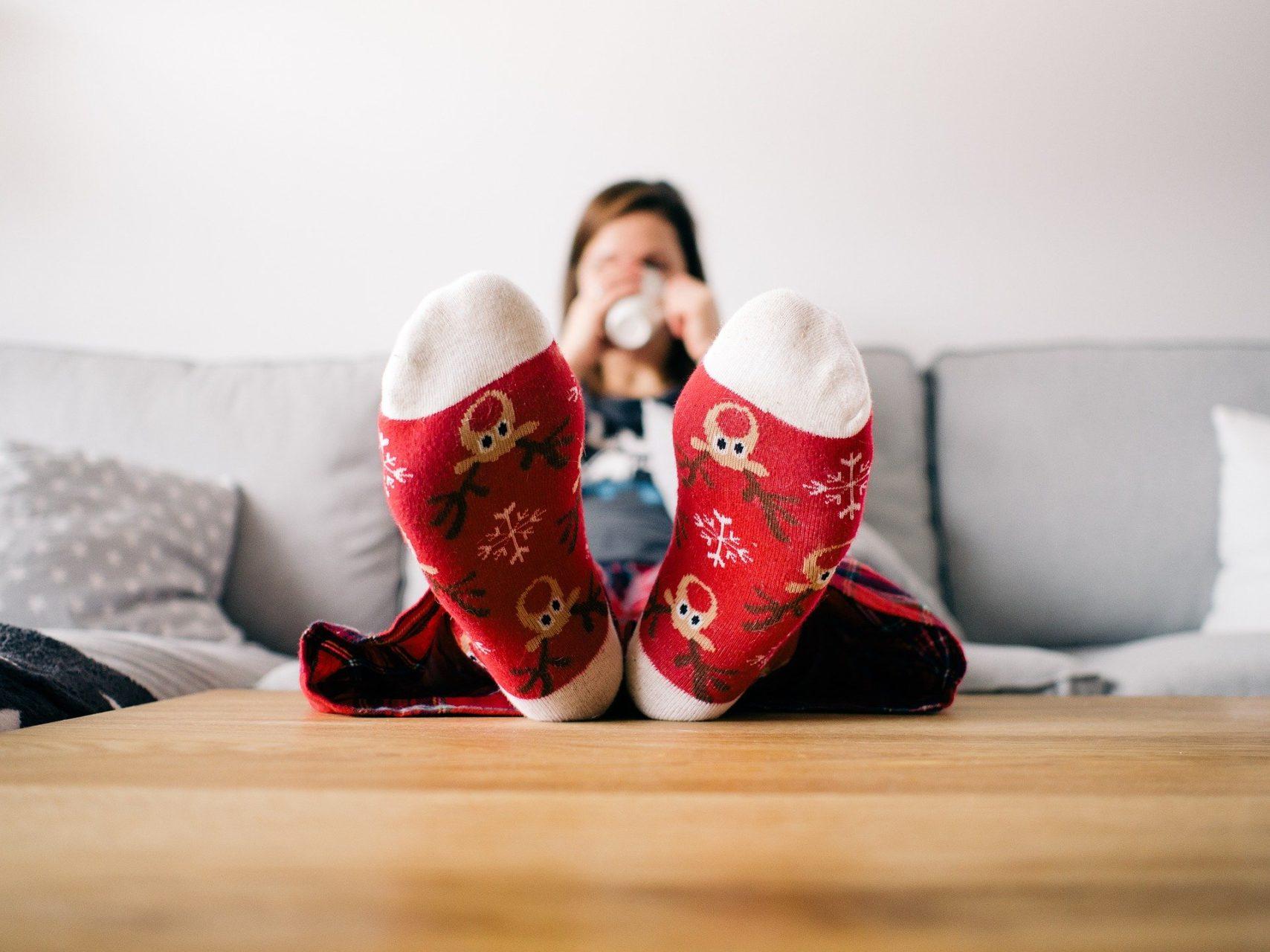 Warme Socken Winter Heizung Beheizt Beheizbar Struempfe Innen Aussen