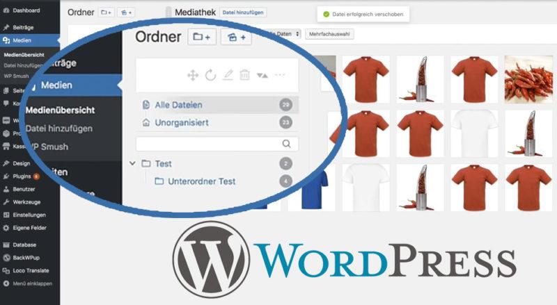 Wordpress Ordnerstruktur Plugin Mediathek Ordner Anlegen Ordnung Sortieren Bilder